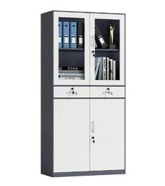 0.5 - 1mm Thickness Glass Door Cabinet , Office Steel Storage File Cabinet