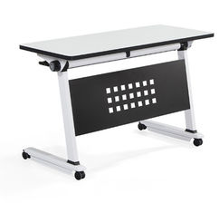 Metal Frame Stainless Steel Office Furniture Activity Folding Training Desks