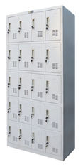 Twenty Door Metal Lockers For Office , Knock Down Lockable Metal Cabinets