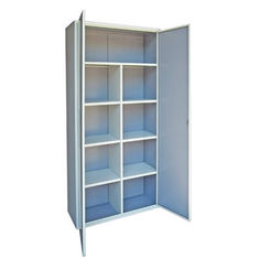 Light Grey Steel Storage Cabinet Heavy Gauge Cold Rolled Steel Material